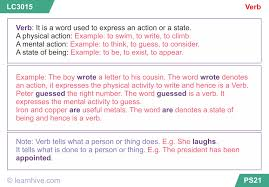 learnhive cbse grade 7 english verbs lessons exercises and