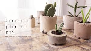 concrete planters diy youtube