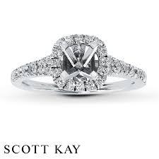 kay jewelers class rings jared scott kay ring setting 1 2 ct tw diamonds 14k white gold
