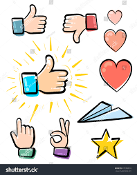 toast emoji set hands icons symbols emoji different stock vector 479359510