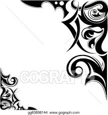 100 wing tribal tattoos wings tribal tattoo stock vector
