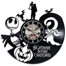 decorative wall clock the nightmare before christmas vinyl record wall clock decorate