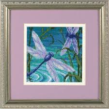 dimensions dragonfly pair needlepoint kit 7208 123stitch