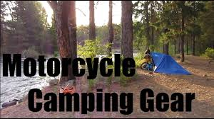 Comfortable Camping Motorcycle Camping Gear Comfortable Minimalist Youtube
