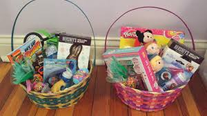 easter basket boy what s in our easter baskets 4 year girl and 2 year boy