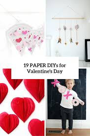 19 easy diy paper decorations for valentine u0027s day shelterness