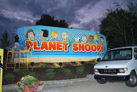 Dorney Park Halloween Commercial by Dorney Park Planet Snoopy Wall Mural Graphic Install Idwraps Com