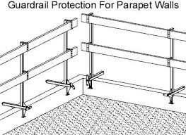 Temporary Handrail Systems Parapet Wall Temporary Guardrails Ellis Manufacturing Co