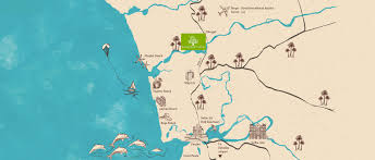 Goa Map Luxury Tree Houses Accommodation In Goa Beautiful Bungalows In
