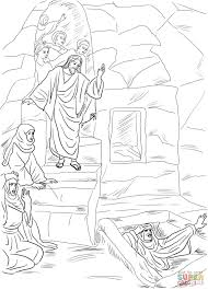 the resurrection of lazarus coloring page free printable