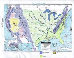 Great Basin Usa Map by Gms 6th Grade Social Studies Us Physical Map