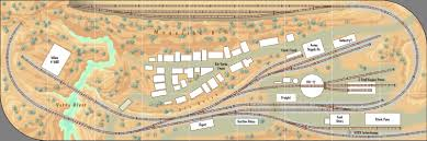Jerome Arizona Map by Thunder Mesa Mining Co N Scale Track Plans