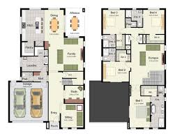 Floor Plan Of 4 Bedroom House Duplex Small House Design Floor Plans With 3 And 4 Bedrooms