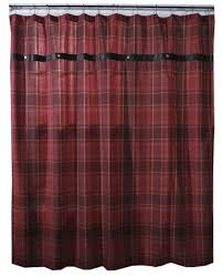 sagamore lake plaid shower curtain carstens inc