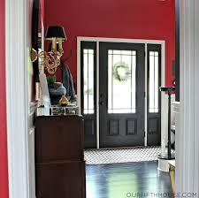 door frame design with steel doorlite window the painted in