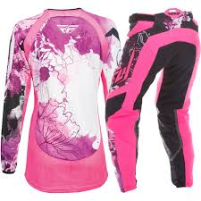 womens motocross gear combos fly racing 2017 ladies mx new kinetic pink purple womens motocross