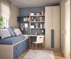 space saving ideas for small bedrooms varnished wooden bed frame