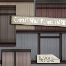 second life marketplace id dark coastal wood wall panel