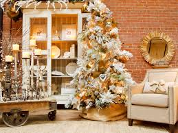 White Christmas Tree Green Decorations by