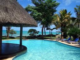 hut chairs view trees hotel pool place beautiful