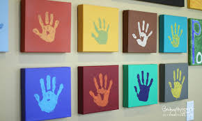 becky higgins handprints display ideas