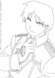 roy mustang lineart by synyster gates a7x on deviantart