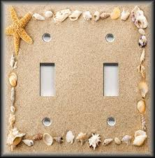 beach light switch covers light switch plate cover beach home decor sea shells frame in