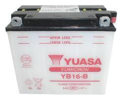 yuasa yb16 b yumicron conventional battery revzilla
