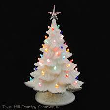 Christmas Tree Made Of Christmas Lights - large white ceramic christmas tree 18 inch tall color lights