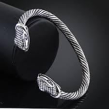 bracelet bangle men images Open cuff jewelry jormungandr viking bracelet bangle snake nail jpg