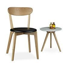 sedie per sala da pranzo relaxdays 10020650 46 sedia per sala da pranzo cucina legno nero