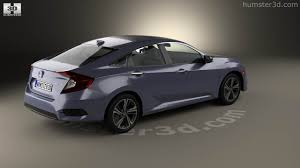 honda civic 2016 sedan 360 view of honda civic sedan touring 2016 3d model hum3d store