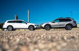 teal subaru outback 2016 subaru outback vs volkswagen passat alltrack comparison