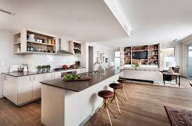 Floor Plan For Kitchen Brilliant Open Floor Plans For Kitchen And Living Room With Long