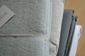 Grey Linen Bedding Natural Cotton U0026 Linen Bedding Natural Bed Company