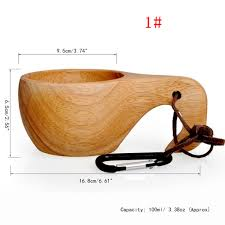 Creative Coffee Mugs Creative Natural Kuksa Wooden Mug New Finland Beer Mug Cup Outdoor