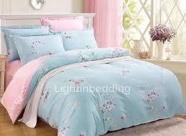 Blue Bed Sets For Girls by Blue Cotton Floral Pattern Girls Bedding Sets Lbd03181623328 1 Jpg