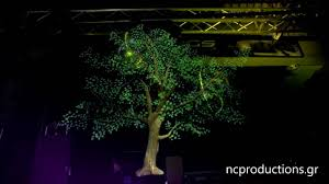 tree hologram projection 1080p