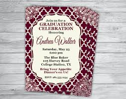 any event color maroon aggie graduation announcement texas a u0026
