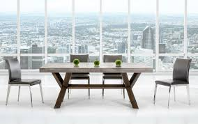 concrete top dining table rectangular concrete and acacia base dining table houston texas vig