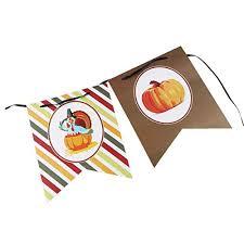 fenical thanksgive paper banner hanging garland banner
