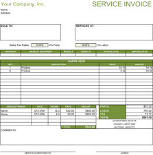 Billing Invoice Template Excel 39 Best Templates Of Service Billing Invoice Exles Thogati