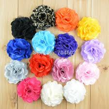 flowers for headbands wholesale 20 colors for choose 3 satin mesh silk flowers for
