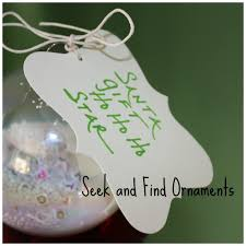 make a seek and find ornament christmas craft
