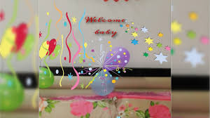 diy how to make baby banner home welcome party banner youtube