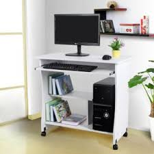 bureau ordinateur blanc rocambolesk superbe bureau informatique roulant table