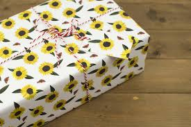 sunflower wrapping paper sunflowers wrapping paper by kate slater notonthehighstreet