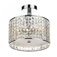 modern bathroom ceiling light chrome u0026 crystal design ip44 rated