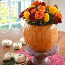 this is what the perfect fall home looks like according to flowers in faux pumpkins