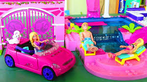 barbie cars with back seats mega bloks barbie on the go build n style barbie doll car youtube